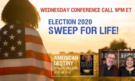 ONE VOICE AT NOON! PRAY AND VOTE. DECLARE A SWEEP FOR LIFE!